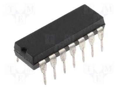 74LS74 Интегрална схема: цифрова; 2; flip-flop; DIP14